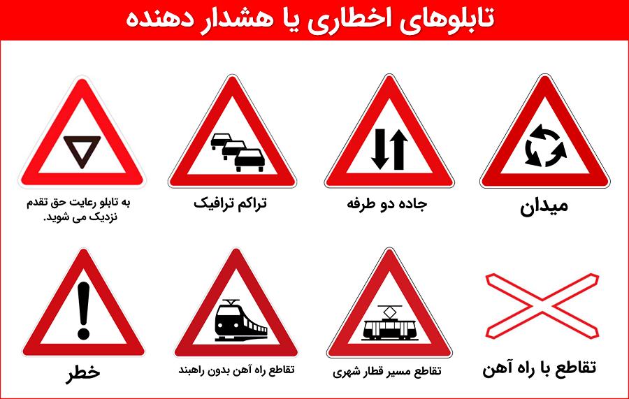 علائم هشدار دهنده راهنمایی و رانندگی