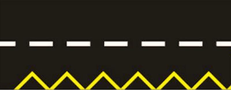 خط زیگزاگ