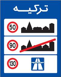 محدودیت سرعت در کشور همسایه