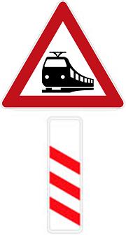 تقاطع جاده و راه آهن بدون راهبند نصب در 300 متری