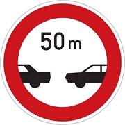 رعایت فاصله کمتر از 50 متر ممنوع